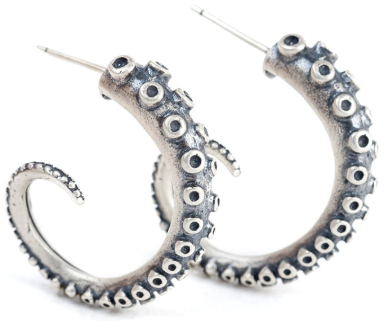 Steampunk Octopus Tentacle Earrings