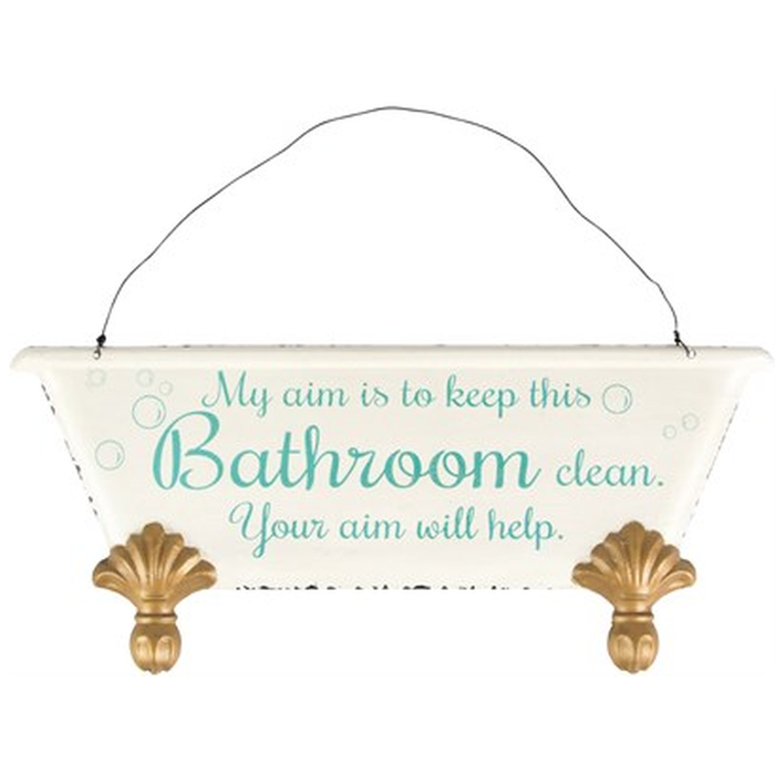 Keep This Bathroom Clean Plaque