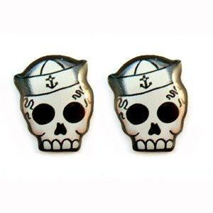 Jubly Umph Stud Earrings - Sailor Skull