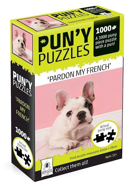 Pardon My French Bulldog Jigsaw Puzzle