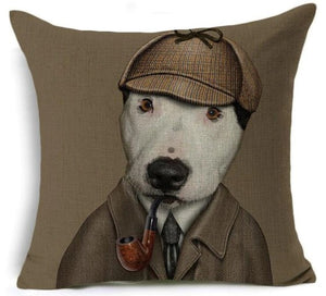 Cushion - Sherlock Bones Bull Terrier