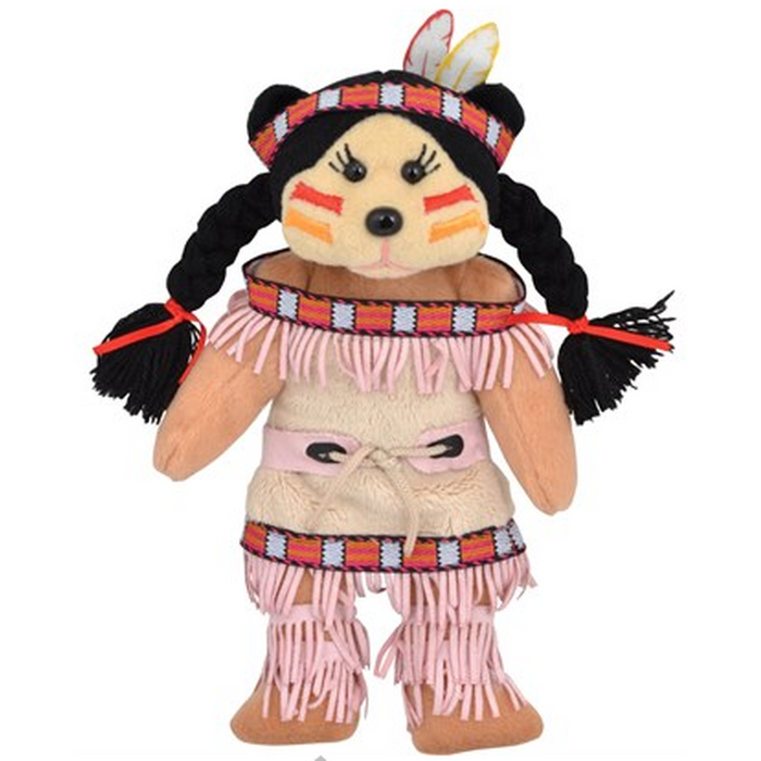 Abby - Native American Teddy Bear Beanie Kid Plush