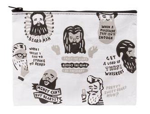 Blue Q Zipper Pouch - Beards