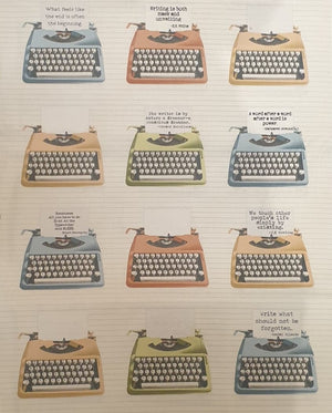 Fabric - Letterpress Typewriters (USA)
