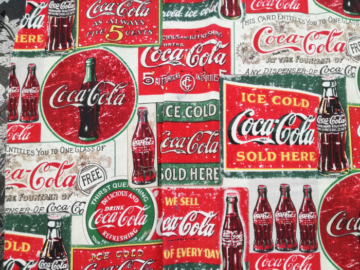 Fabric - Coca Cola Vintage Labels (USA)
