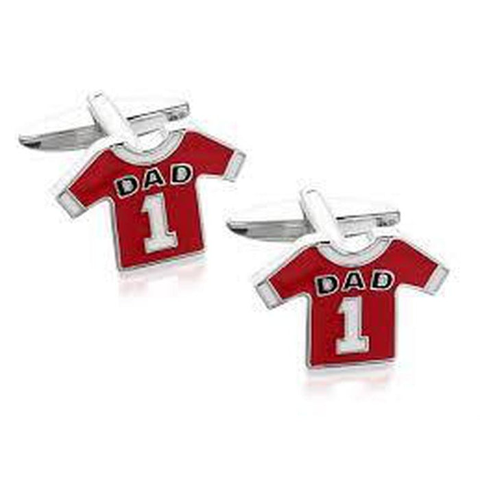 Cufflinks - Number 1 Dad Football Shirt