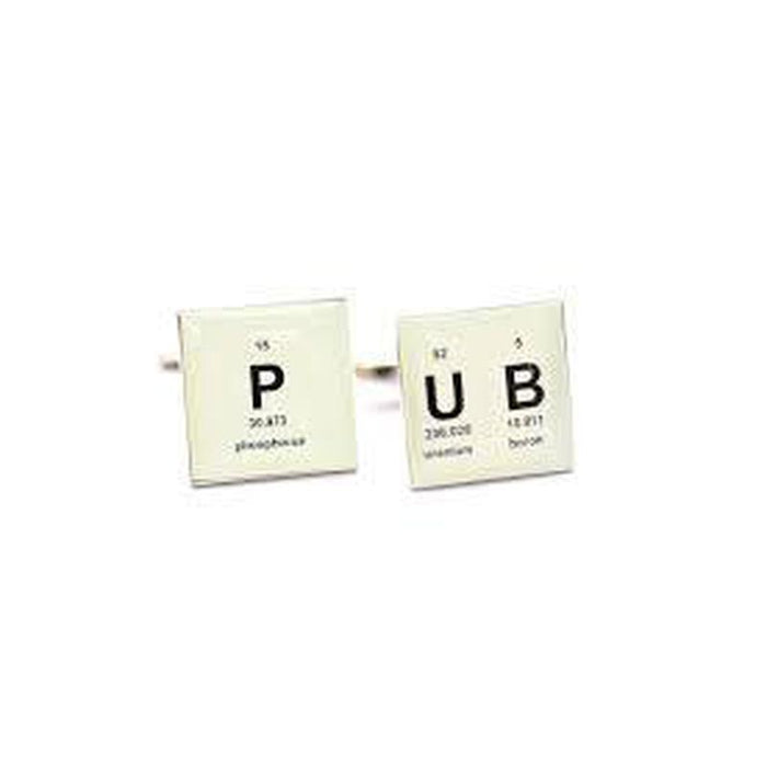 Cufflinks - PUB Periodic Table