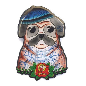 Jubly Umph Brooch - Sailor Pug