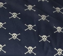 Fabric - Navy Skull & Crossbones