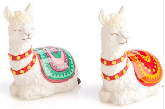 Alpaca Llama Ceramic Salt & Pepper Shakers