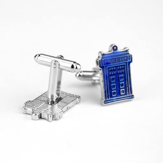 Cufflinks - Doctor Who - Tardis Enamel (solid blue)