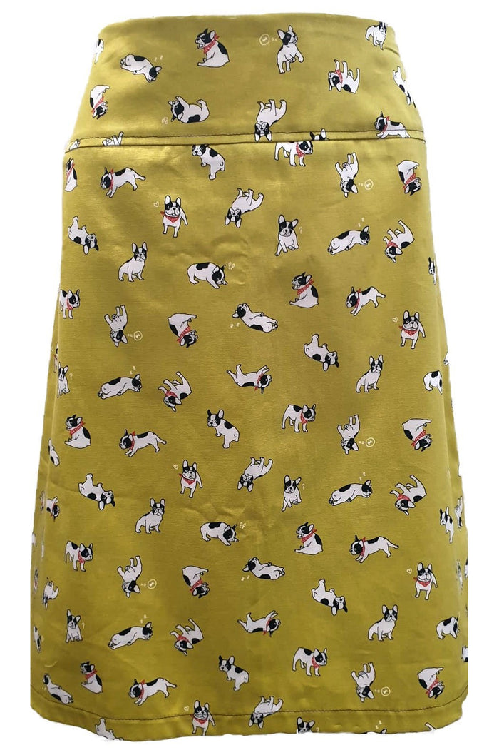 PR Original -  Mustard Puppies & Denim Zip Skirt