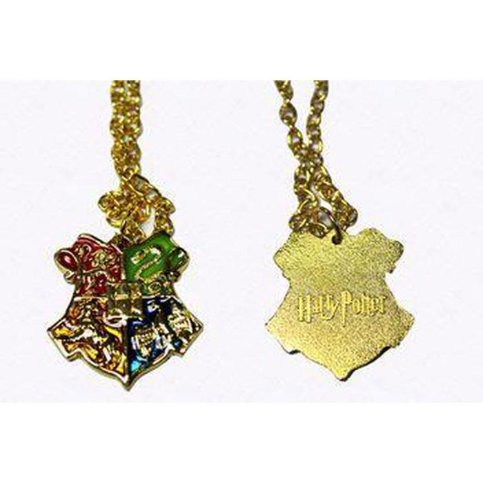 Harry Potter Gold Hogwarts Crest Necklace