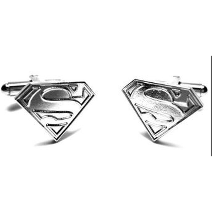 Cufflinks - DC - Superman Logo Silver Raised