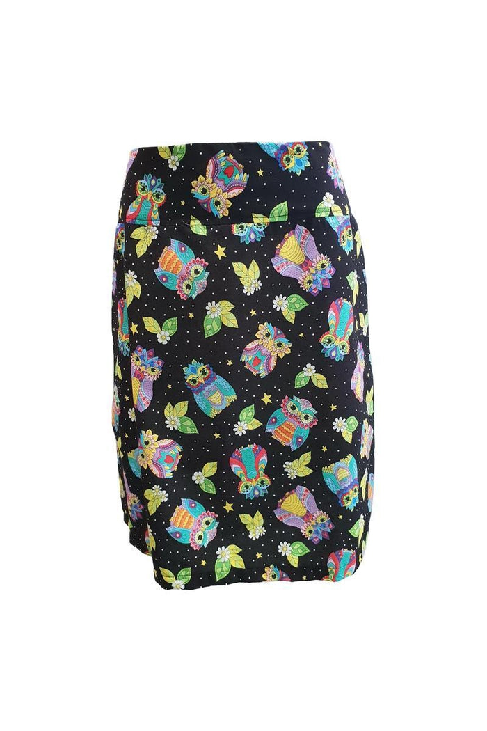 PR Original - Cosmic Owls Zip Skirt