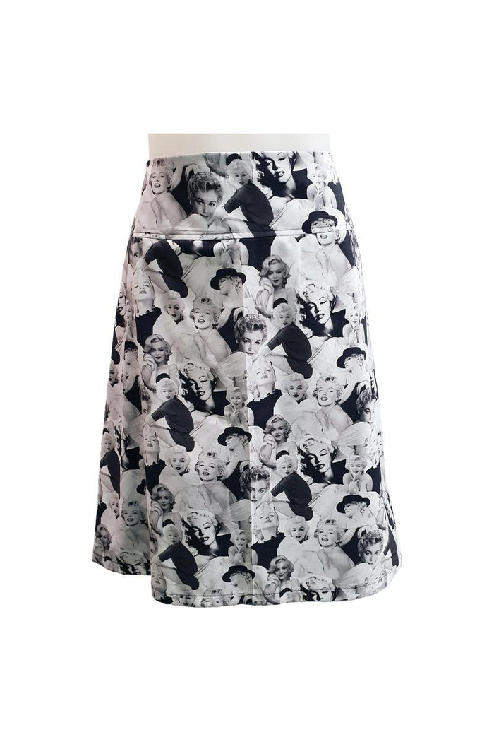 PR Orig - Zip Skirt - Marilyn B&W