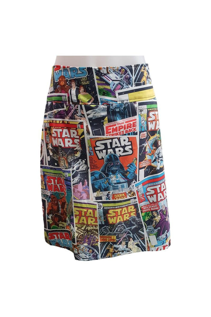 PR Original - Star Wars Comic Print Zip Skirt