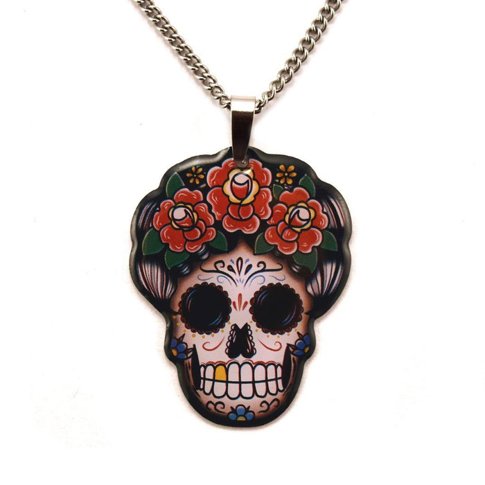 Jubly Umph Necklace - Day of the Dead Frida Kahlo