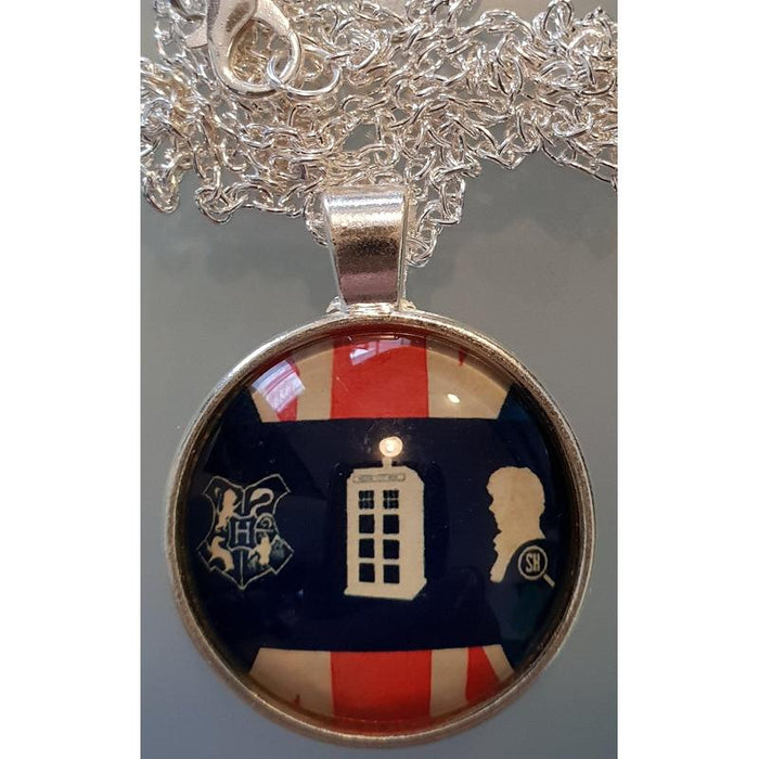 British Multifandom Geek Dome Necklace