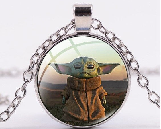 Baby Yoda Dome Necklace