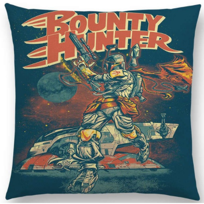 Boba Fett Bounty Hunter Comic Art Cushion