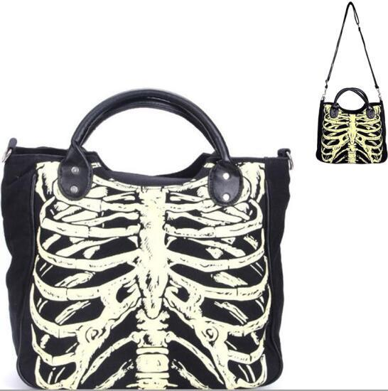 Rib Cage Glow in the Dark Handbag Shoulder Bag