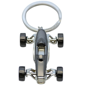 Pewter Racing Car Keyring