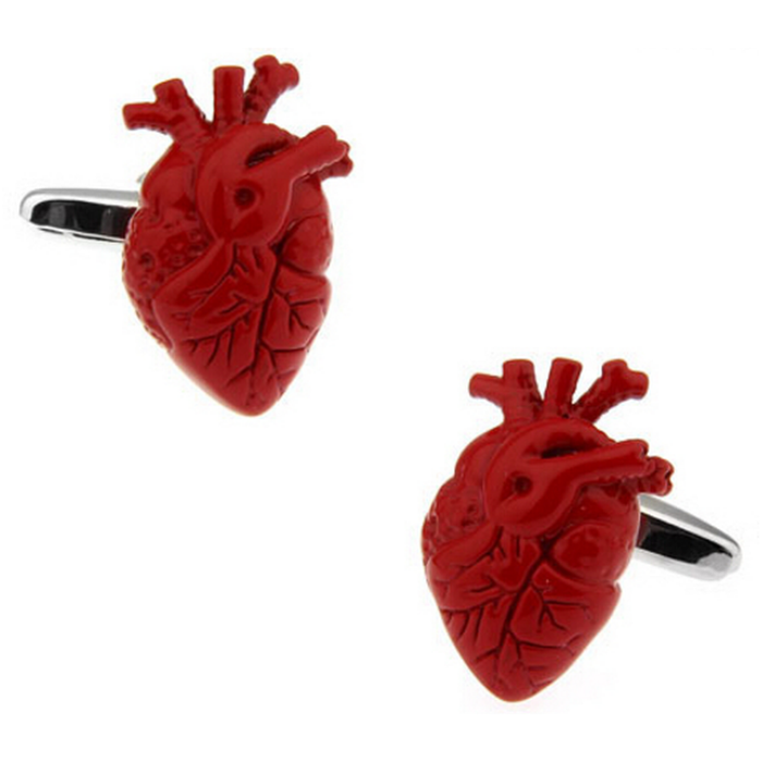 Cufflinks - Human Body - Anatomical heart