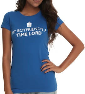 My Boyfriend's a Time Lord - Ladies Tee