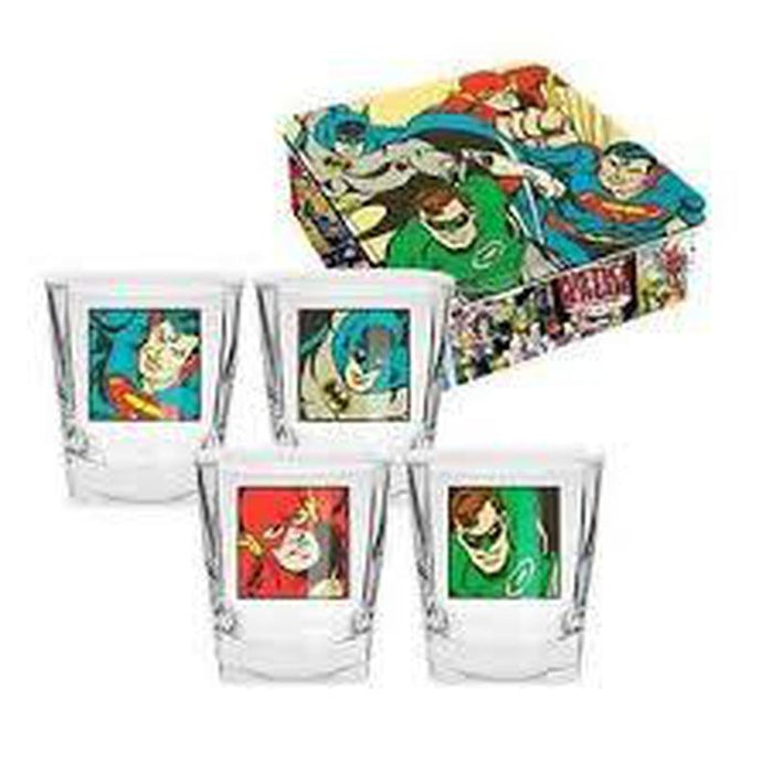 Justice League Spirit Glasses Set of 4