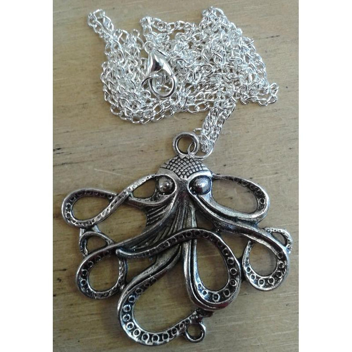 Steampunk Octopus Kraken Necklaces