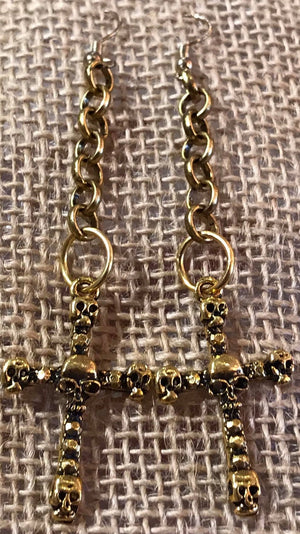 Skull Cross Earrings - PR Originals