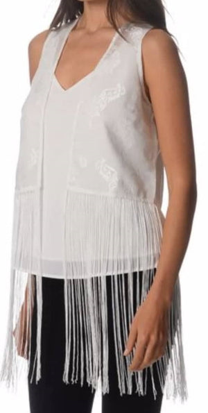 Atmos & Here Fringed Vest