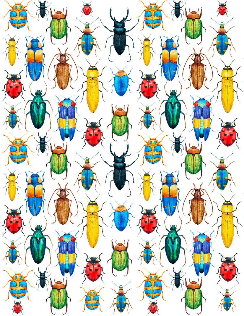 Overglaze decal - Rainbow Bugs