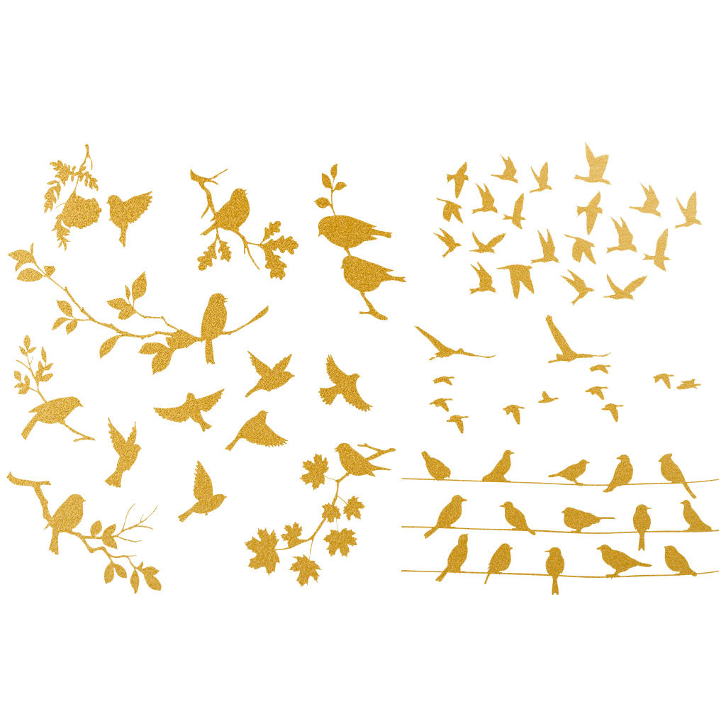 Gold - Birds silhouette