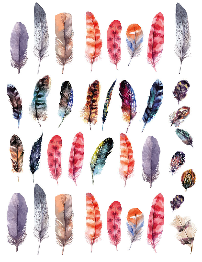 Overglaze decal - Feather