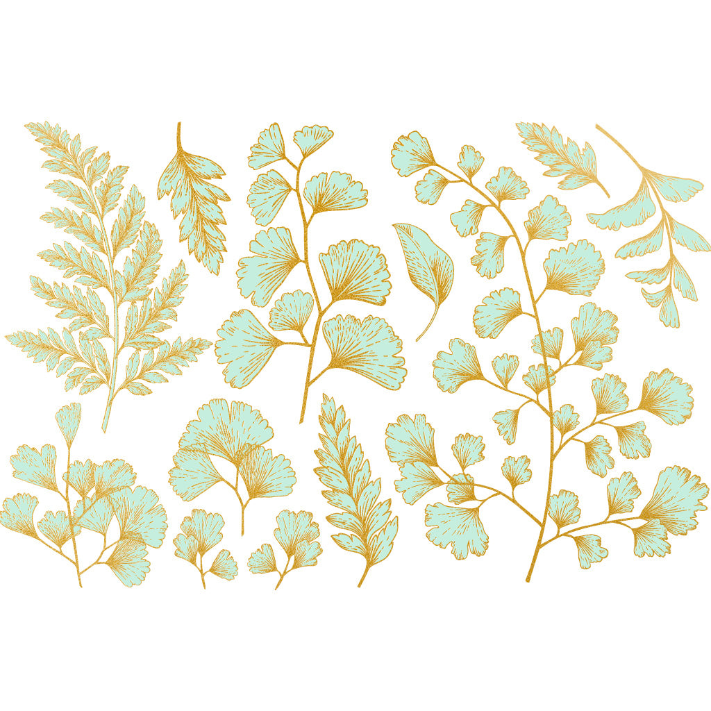 Teal & Gold - Leaf