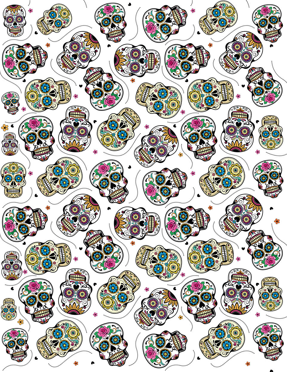 Overglaze decal - Sugar Skull