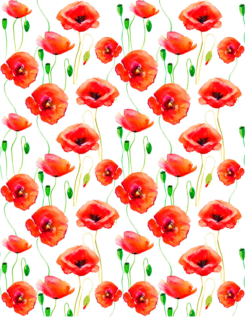 Overglaze decal - Poppies