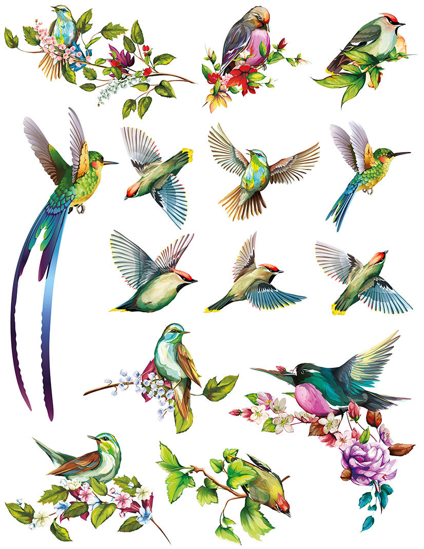 Overglaze decal - Birds
