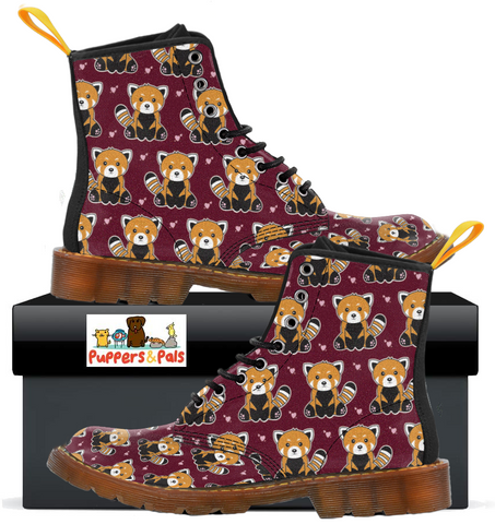 Red Panda Combat Boots