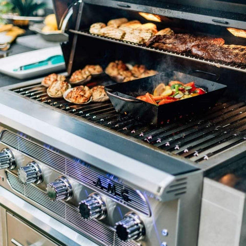 "American Muscle Grill by Summerset 36"" 5-Burner Built-In Dual Fuel Wood / Charcoal / Gas Grill"