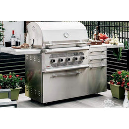 "American Muscle Grill by Summerset 36"" 5-Burner Freestanding Dual Fuel Wood / Charcoal / Gas Grill"