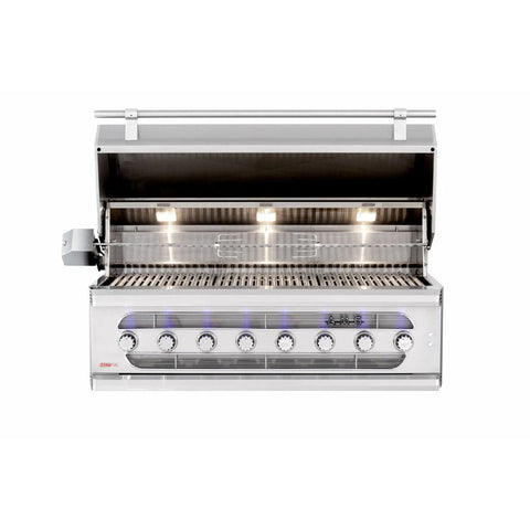"Image of American Muscle Grill by Summerset 54"" 8-Burner Built-In Dual Fuel Wood / Charcoal / Gas Grill"