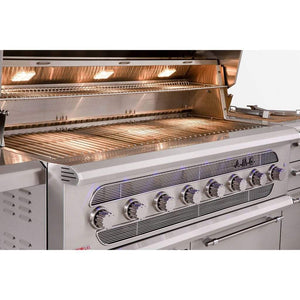 "American Muscle Grill by Summerset 54"" 8-Burner Built-In Dual Fuel Wood / Charcoal / Gas Grill"