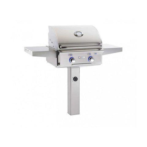 "Image of American Outdoor Grill 24"" In-Ground Post L-Series Gas Grill No / Natural Gas 24NGL-00SP"