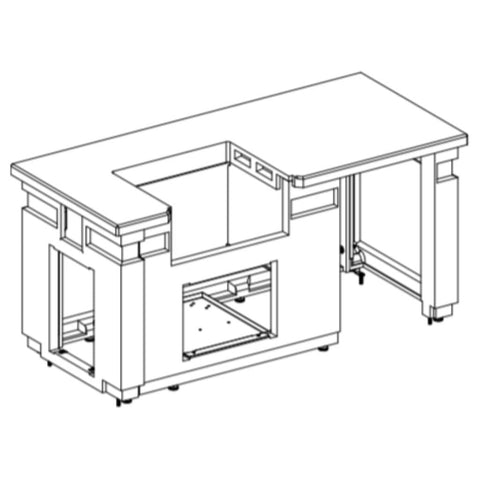"Image of American Outdoor Grill 75"" 430 GFRC Pre-Fab Island with Double Drawer Cut-out ID790-CBD-108SM"