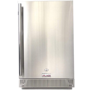 "Blaze 20"" Outdoor Rated Stainless Steel Compact Refrigerator 4.1 Cu. Ft. BLZ-SSRF-40DH"