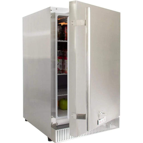"Image of Blaze 20"" Outdoor Rated Stainless Steel Compact Refrigerator 4.1 Cu. Ft. BLZ-SSRF-40DH"
