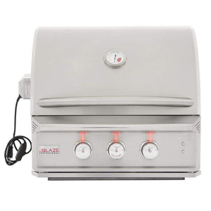 "Blaze 27"" 2-Burner Professional Built-In Gas Grill with Rear Infrared Burner"